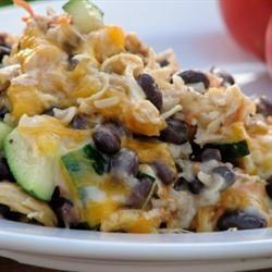 Brown Rice and Black Bean Casserole Recipe - Allrecipes.com (no cream ...