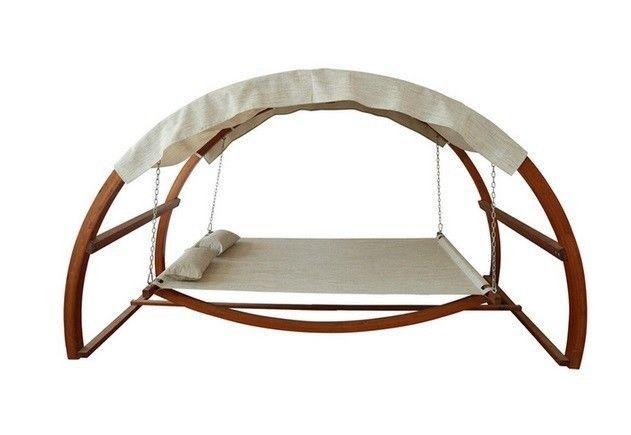 Backyard Hammock Bed : Hammock Canopy Bed Outdoor Lounger Patio Sunbed Backyard Garden