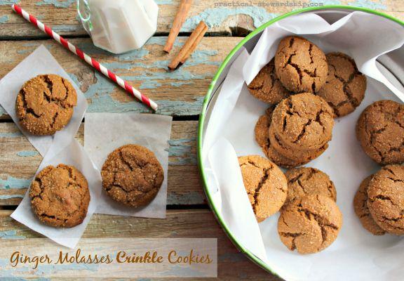Ginger Molasses Crinkle Cookies   Recipe