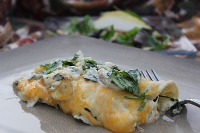 Spinach Mushroom Enchiladas | Food I must try | Pinterest