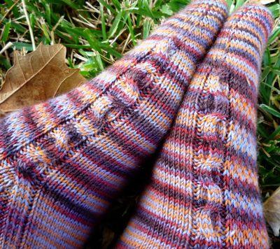 Chimaera socks: Knitty Winter 2012