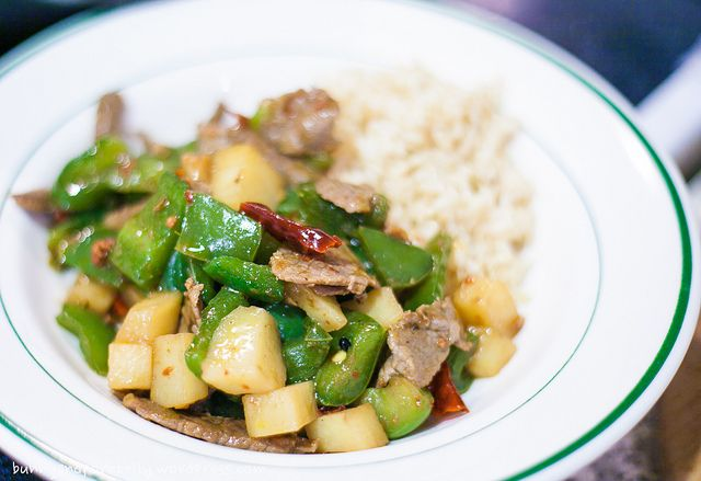Spicy Beef with Green Peppers