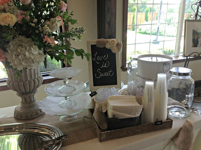 Shabby chic buffet tablescape weddings amp romance pinterest