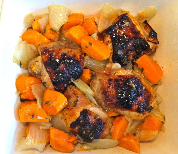Maple Roasted Chicken & Sweet Potatoes | Real Food: Savoury | Pintere ...
