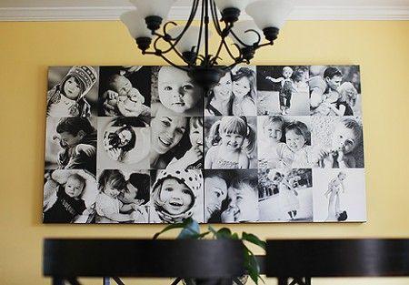 DIY Wall O' Canvas by creativemama #Photo_Collage #creativemama