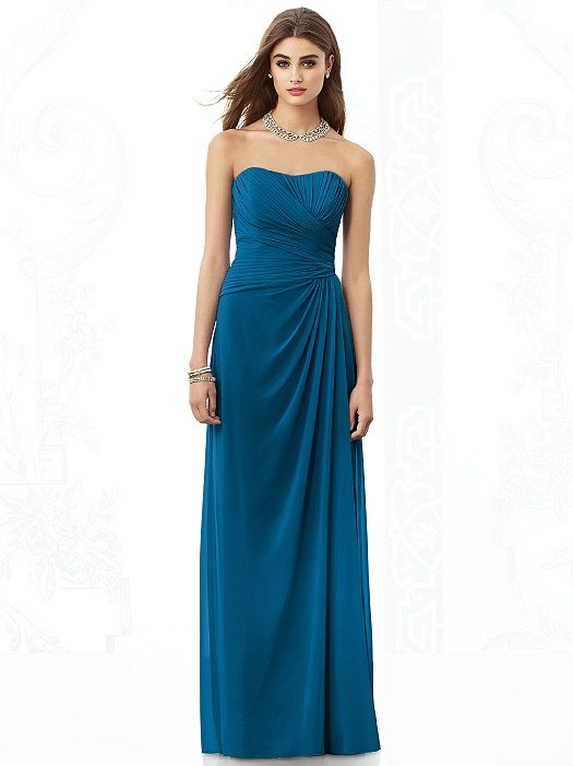 Dessy ocean blue bridesmaid dresses wedding fashion for Ocean blue wedding dress