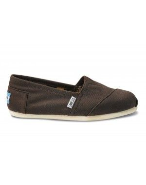 TOMS Chocolate Canvas - $25