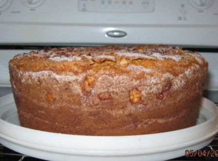 ... sour cream pound cake. She would have used pecans tho, she had pecan