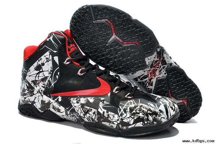 White/Black/Red Nike LeBron 11 Graffiti | KD V | Pinterest