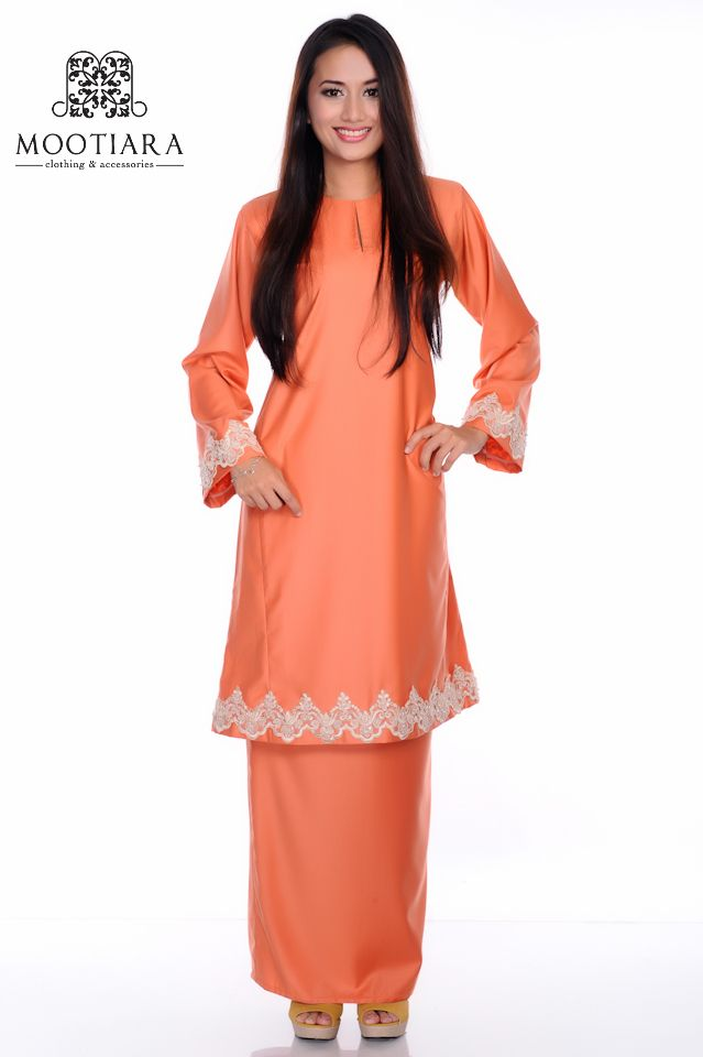 Dark Red Baju Kurung Pahang Mootiara Pinterest