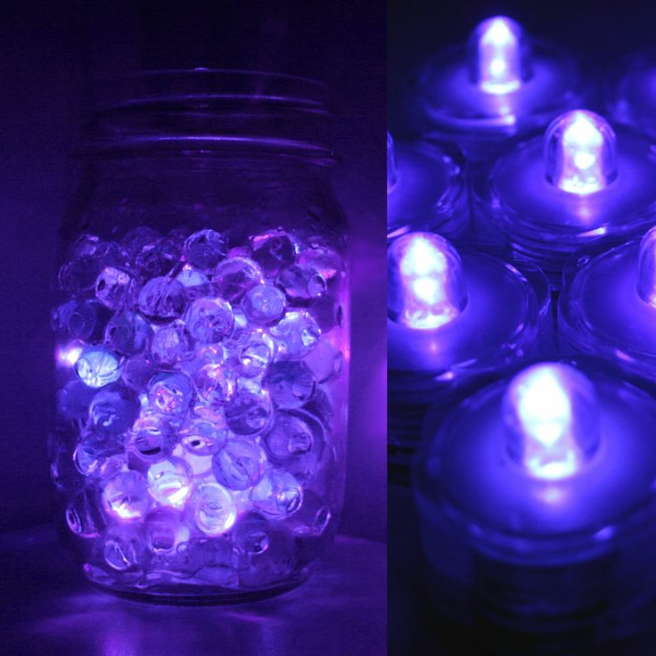 Wedding Centerpieces With Submersible Lights : wedding centerpieces