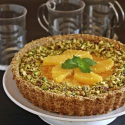 ... anniversary. Her Baked Yogurt Tart, with fresh orange & cardamom