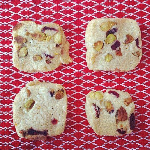 Pistachio Cranberry Icebox Cookies} | sweets | Pinterest