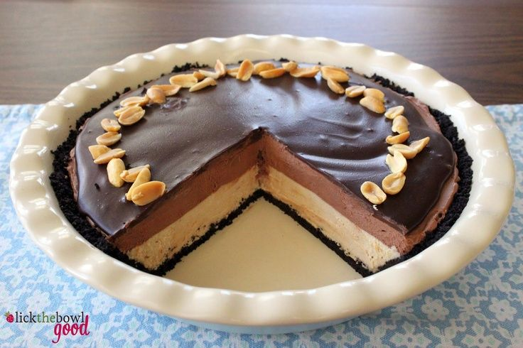 chocolate peanut butter mousse pie. | Food | Pinterest