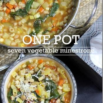 Seven Vegetable Minestrone Soup | Cooking | Pinterest
