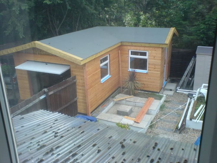 Detached l shaped garage home garage pinterest for L shaped house plans with garage