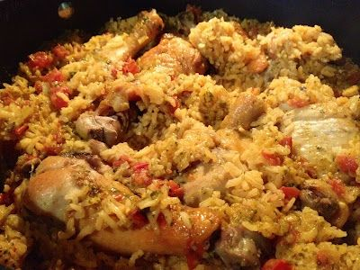 little of this, a little of that: Lightened Arroz con Pollo