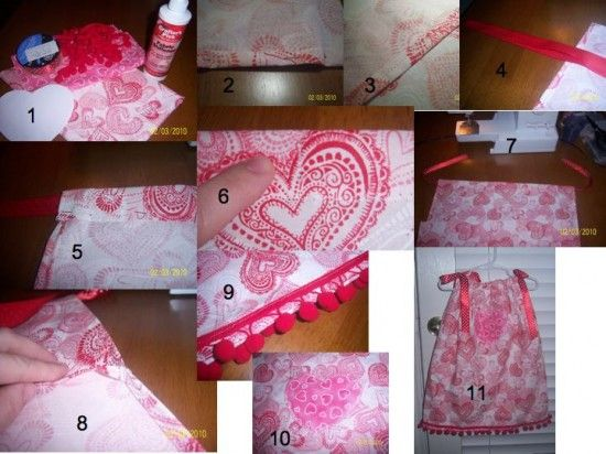 Cute Valentines Day pillow case dress
