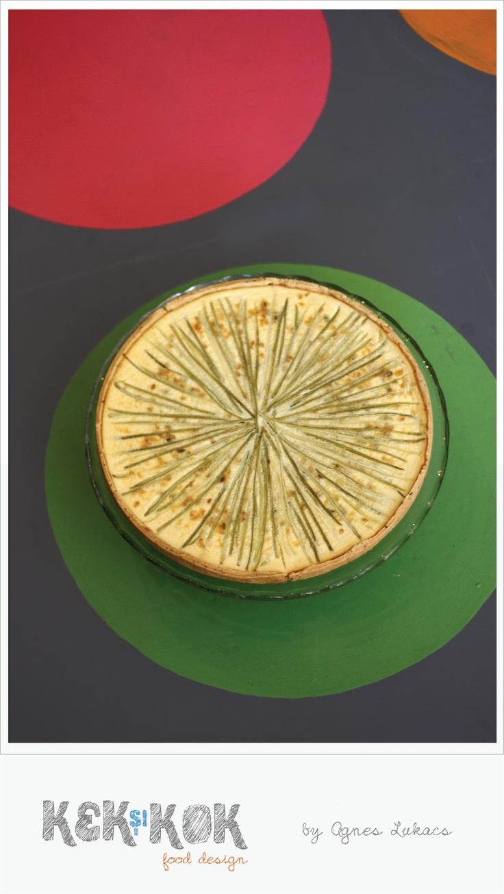quiche with feta cheese, zucchini and dill
