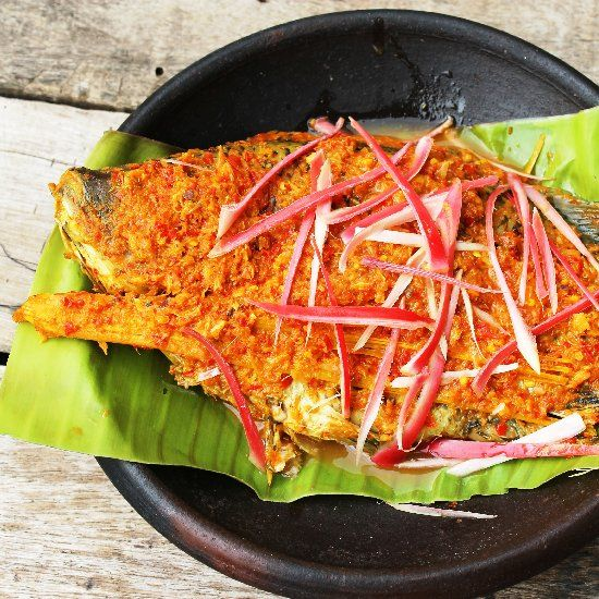 Arsik Ikan, Indonesian Stewed Tilapia Fish with Spicy Turmeric, Chilli ...