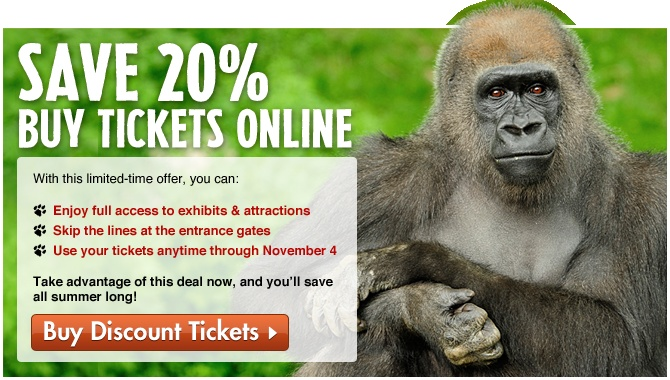 photo regarding Printable Riverbanks Zoo Coupons identified as Bronx zoo discount coupons printable 2018 : Ninja cafe nyc discount codes