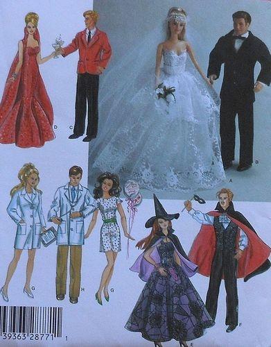 """11.5"""" Fashion Doll Sewing Pattern"""