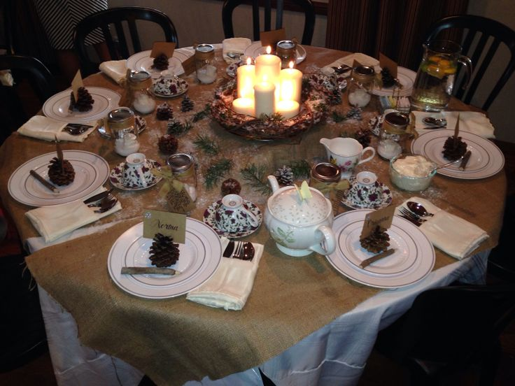 Best 28 christmas tea table decorating ideas christmas Christmas party table settings