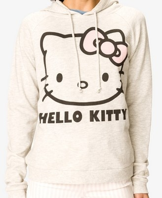 Heathered Hello Kitty^ Hoodie | FOREVER21 - 2037806405