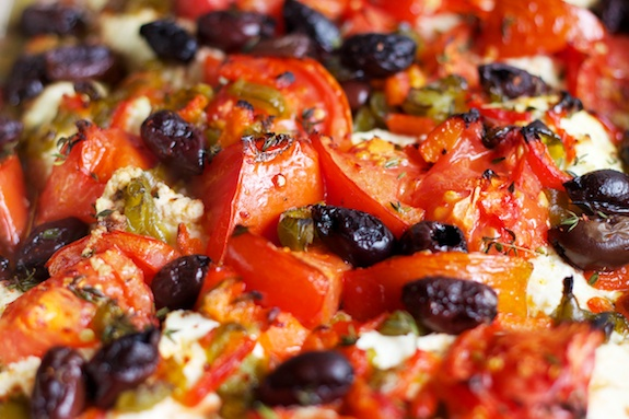 baked ricotta with tomato and olives | Food Worth Eating | Pinterest