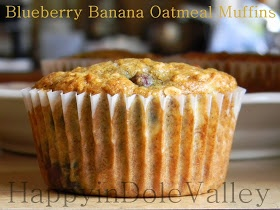 Blueberry Banana Oatmeal Muffins | Breads and Muffins | Pinterest