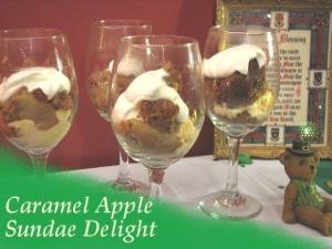Caramel Apple Sundaes, and so easy!! | St. Patrick's Day | Pinterest