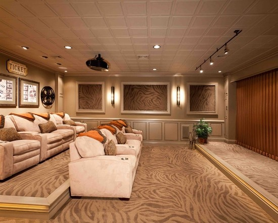 Home theater risers for Basement home theater plans