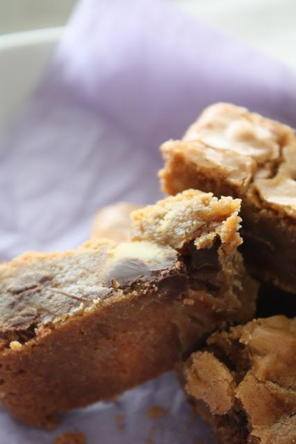 Bites of Sweetness: chewy blondies: you were made for me