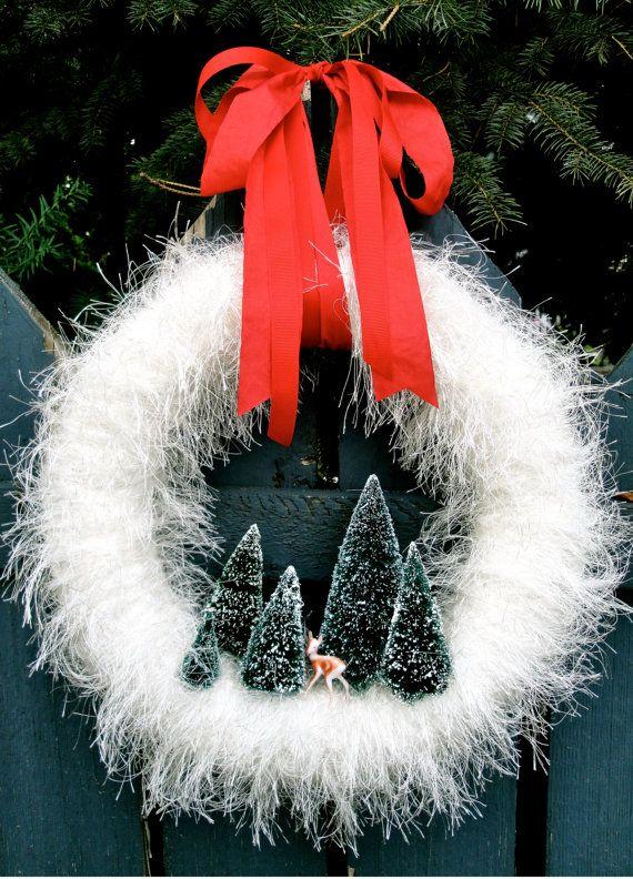 Christmas Wreath Woodland Christmas Wreath by thechicadeeshop, $120.00