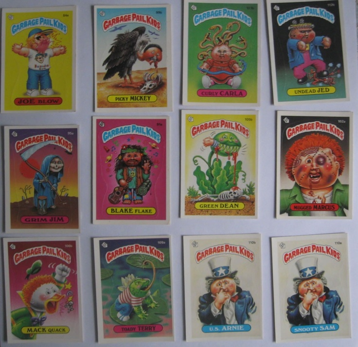 17 1980s garbage pail kids series 3 trading cards and stickers 14 99
