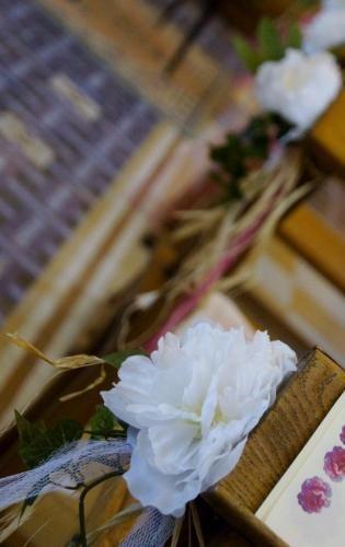 Lot de 5 décorations florales pour bancs d'église fleurs artificielles mariage