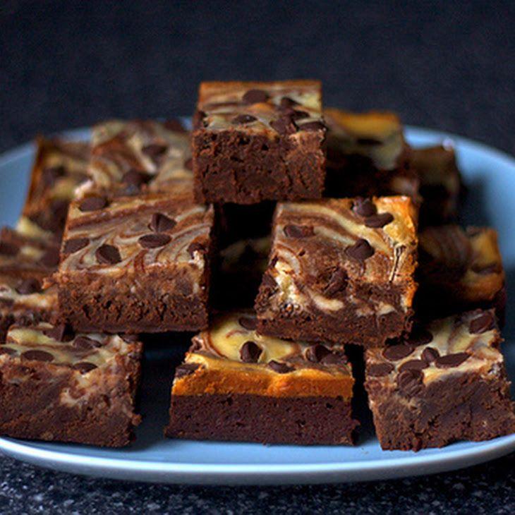 Cheesecake-marbled Brownies III Recipe | Desserts | Pinterest