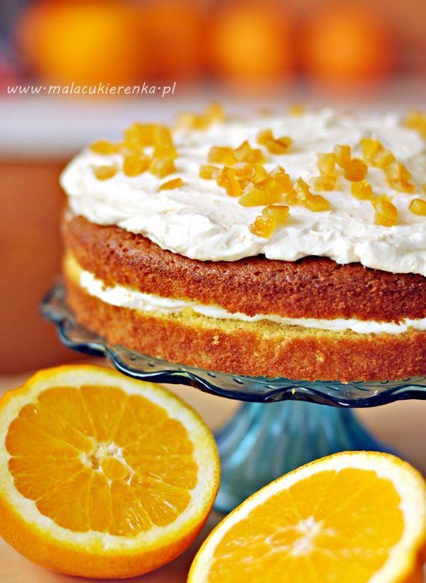 Orange Cake with a Light Cream | Eat this | Pinterest