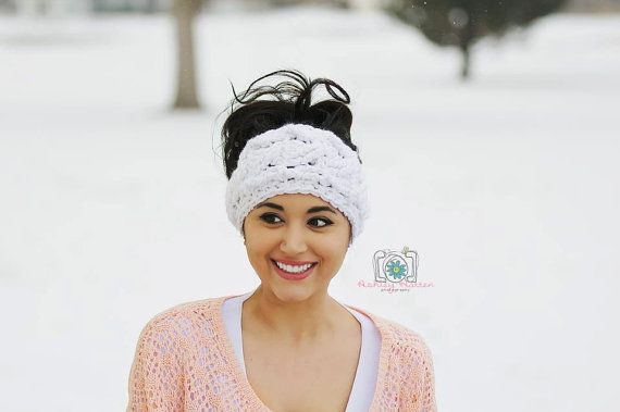 Crochet Pattern for Super Chunky Cabled Earwarmer Headband - Toddler ...