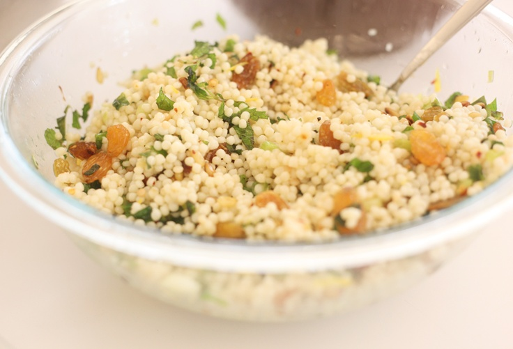 Israeli Couscous with Mint and Lemon, Wholeliving.com #lunchbunch