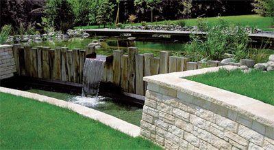 Mur bois et pierre piscines et terrasses pinterest - Terrasse bois et pierre ...