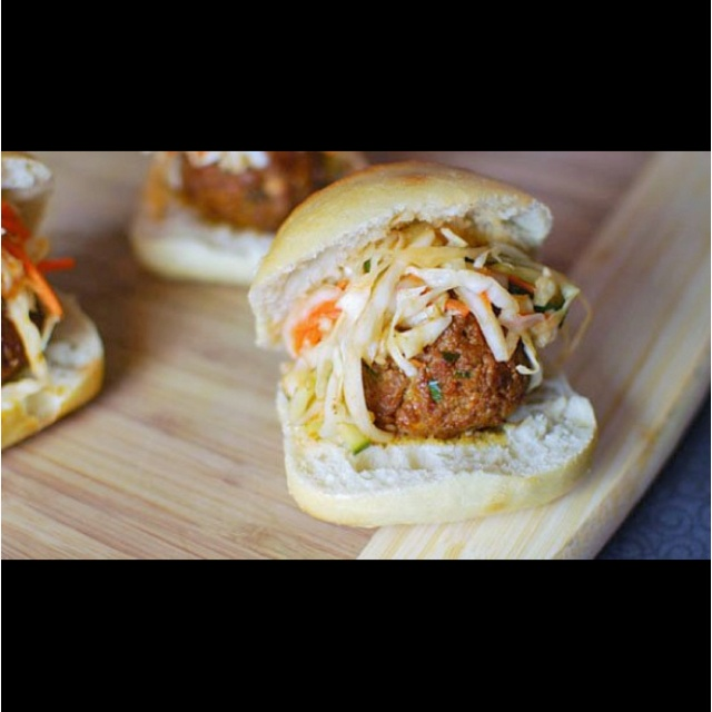 Mini meatball sandwich | Sandwiches!!! | Pinterest