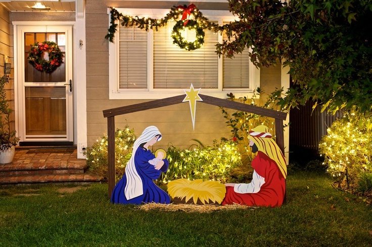 Pin by rebekah owens on christmas crech 39 e around the world for Outdoor christmas scenes
