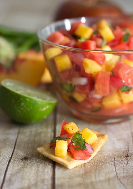 heirloom tomato and peach salsa by kokocooks, via Flickr