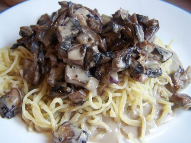 White Wine And Garlic Mushroom Cream Sauce Recipe ...