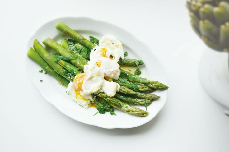 asparagus with poached eggs | breakfast bliss | Pinterest