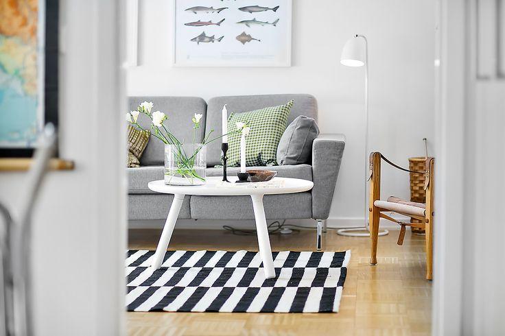 Deco Salon Bleu Marine : blanc, gris, noir, vert, bois,  Salon  Séjour  Pinterest