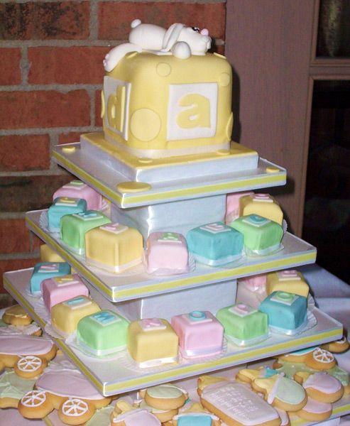 Abc blocks cake cute baby shower ideas pinterest for Alphabet blocks cake decoration