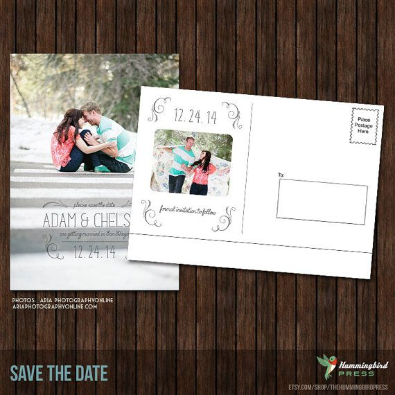 Psd 5x7 save the date postcard template s22 for Save the date postcard template