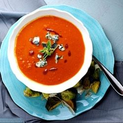 cheese spicy tomato soup spicy tomato soup tomato soup with ricotta ...